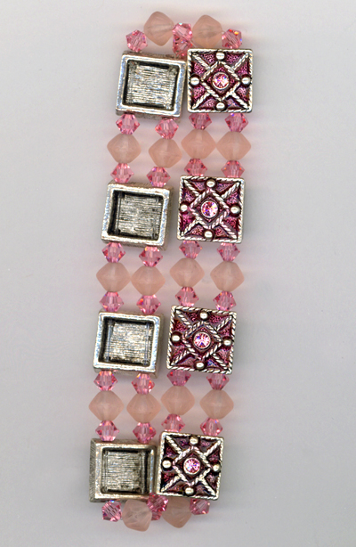 rose pink crystal slider stretch bracelet