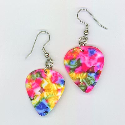 guitar pick earrings confetti regular