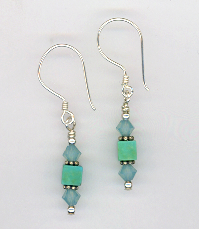 Pacific Sky Crystal Earrings
