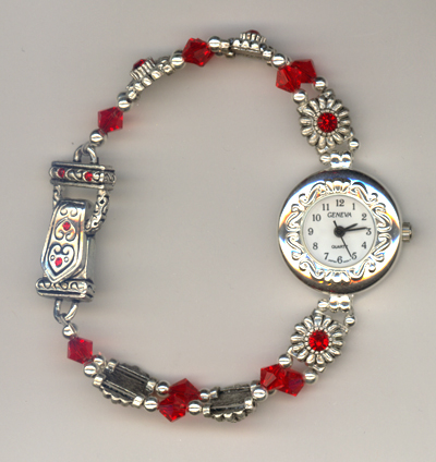 Valentine Red Pure Allure Crystal Magnetic Watch