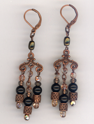 Copper Ellegance Chandelier Earrings