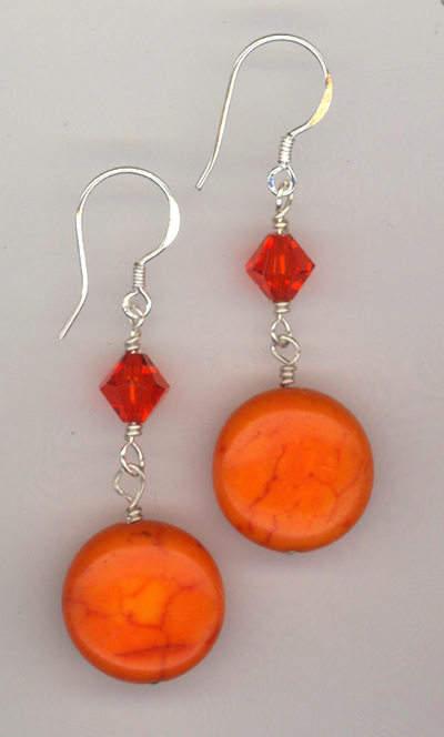 Orange Slice ~ Gemstone Earrings