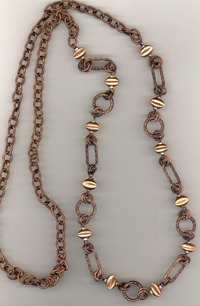 Copper Link Chain Necklace