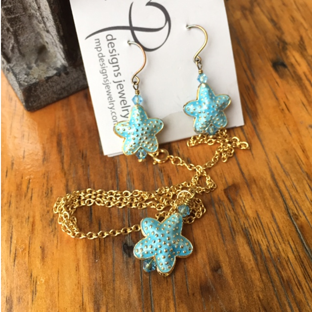 Blue starfish summer set