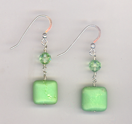 Sliced Melon Summer Crystal Earrings