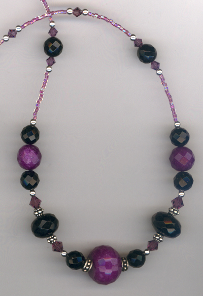 Black Amethyst Crystal Necklace