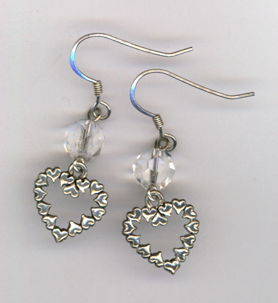 Say You Love Me Heart Crystal Earrings