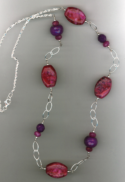 purple Craze gemstone chain necklace