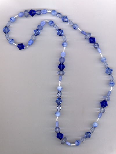 Little Baby Blues Beaded Necklace