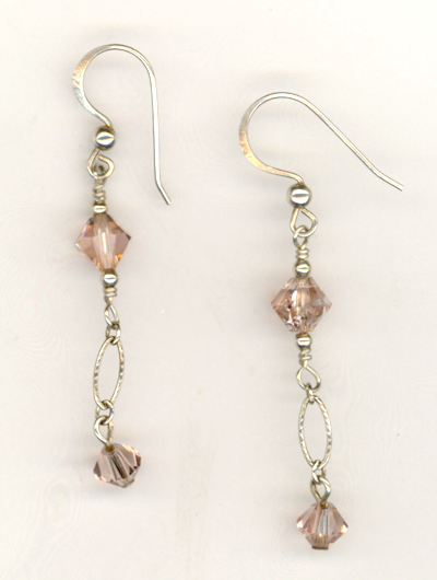 Vintage Rose ~ Swarovski Crystal Earrings
