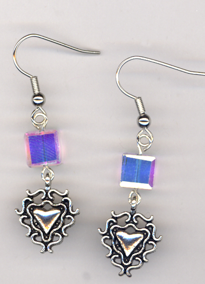 Charming Hearts 2 ~ Crystal Earrings