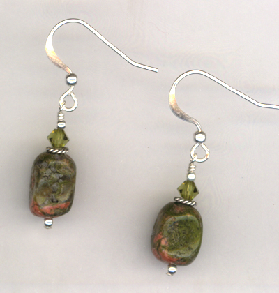 Harvest Home 2 ~ Gemstone Crystal Earrings