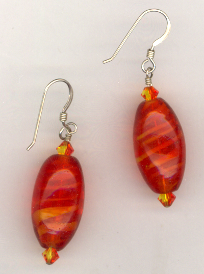 Flaming Orange Earrings