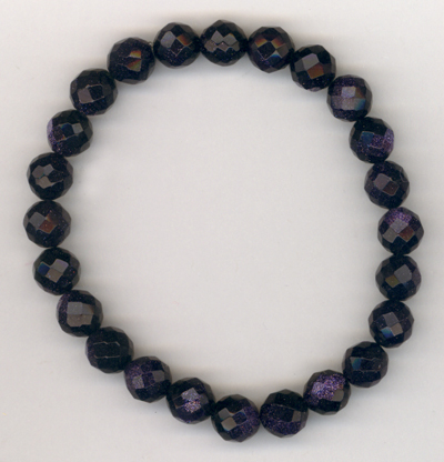 Purple Midnight ~ Crystal Stretch Bracelet