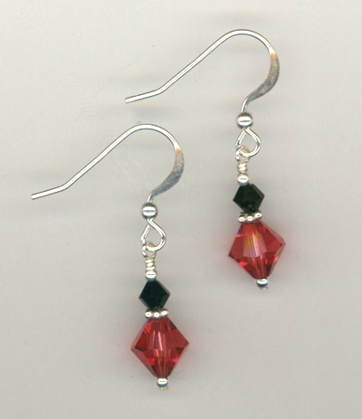 Custom Bridal Swarovski Crystal  Earrings