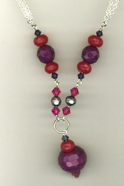 Perfect Triple Berry Jade Crystal Necklace