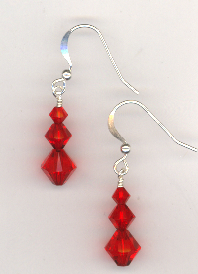 Santa Baby Red Crystal Earrings