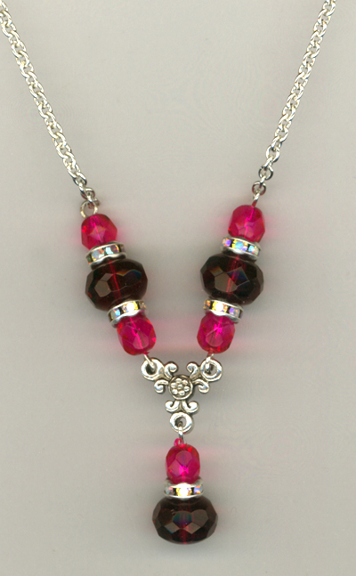 Fuchsia Pink Luxury Necklace