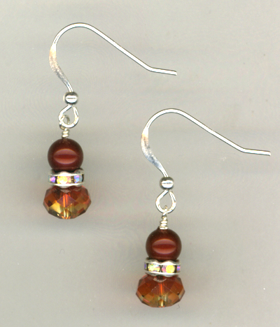 Flaming Beauty Crystal Pearl Earrings