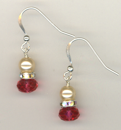 Pink Passion Pearl Sterling Earrings
