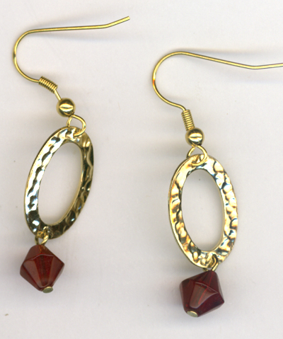Ice Queen Gold Hammered Link Earrings