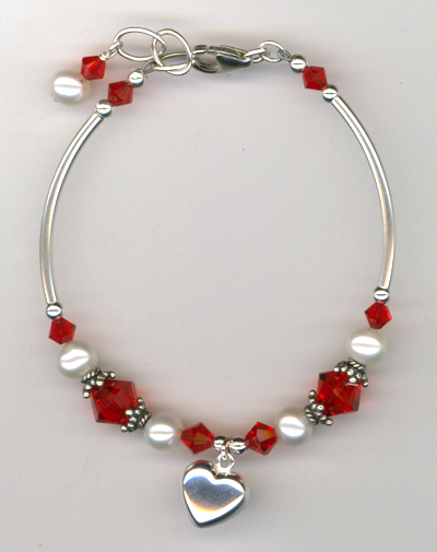 Revel In The Love ~ Light Siam Red Bracelet