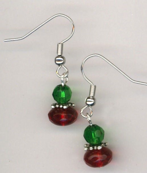 Merry Christmas 2 crystal earrings