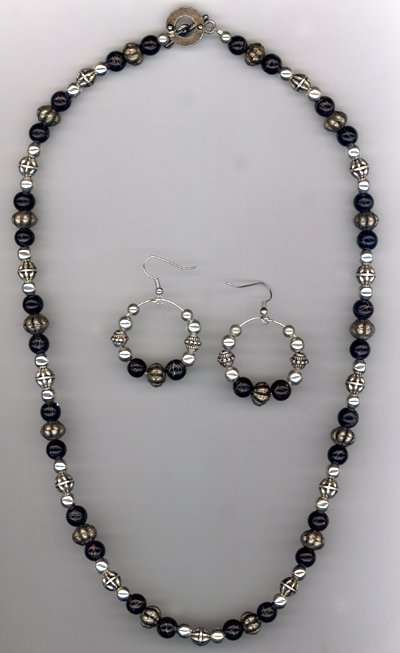 Peace Be Steel ~ Beaded Jewelry Set