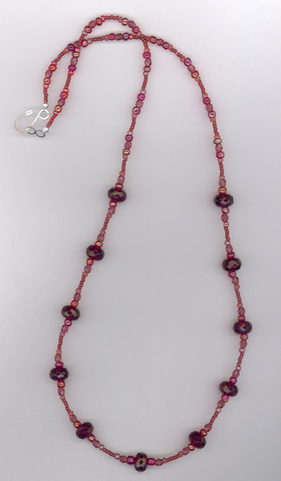 Fuchsia Crystal Sparkle Necklace