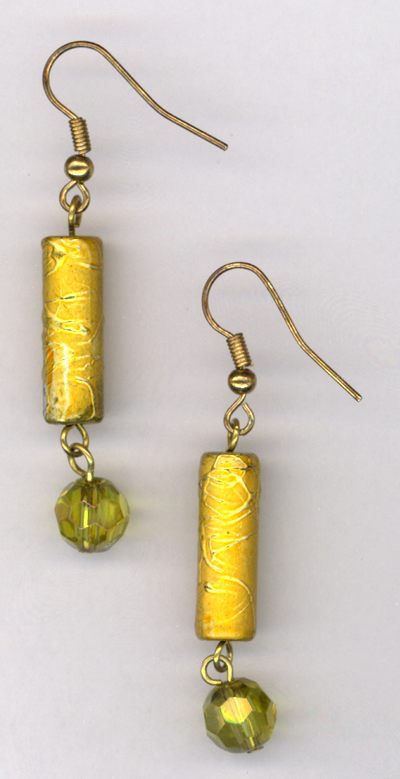 Light The Fire Gold Crystal Earring
