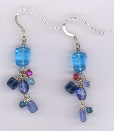 Banish The Blues ~ Crystal Dangle Earrings