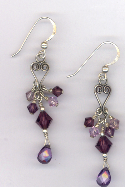 Purple  Splendor ~ Swarovski Crystal Chandelier Earrings
