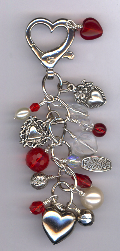 Here Is My Heart ~ Purse Charm