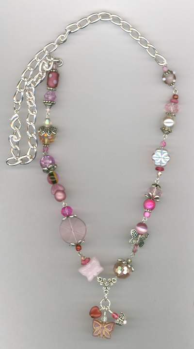 Whimsy Girl Pink ~ Chunky Beaded Necklace