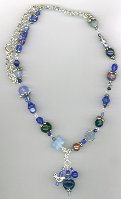 Whimsy Girl Blue ~ Chunky Beaded Necklace