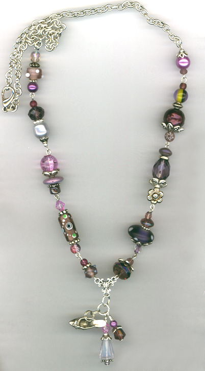 Whimsy Girl Purple~ Chunky Beaded Necklace