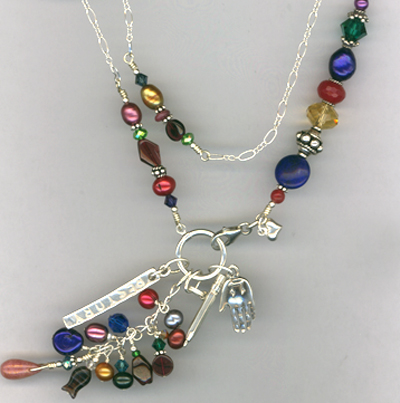 Restory ~ Custom Gemstone Sterling Charm Necklace