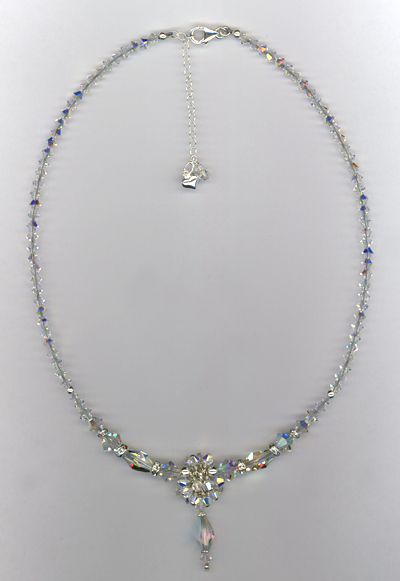 Swarovski Crystal Bridal Custom Necklace