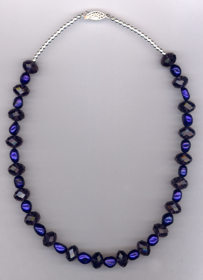 Windsor Violet ~ Pearl Crystal Necklace