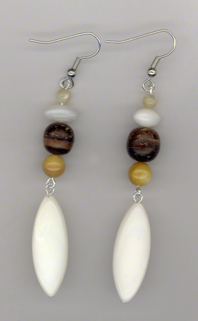 By The Seashore 2 ~ Triple Pearl Earring