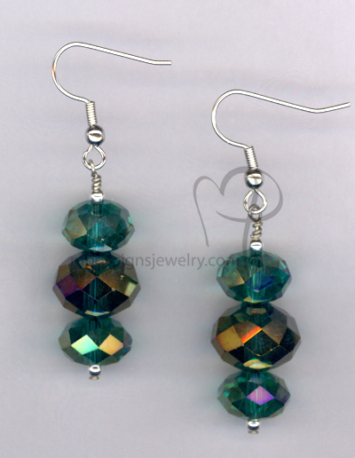 Bling! Bling! Green Emerald Crystal Earrings
