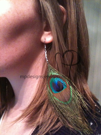 Peacock Pretties Feather Earrings