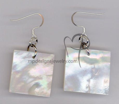 Dream ~ White Pearl Square Earrings