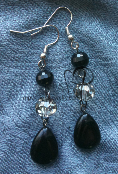 Cascading Crystals Teardrop Earrings