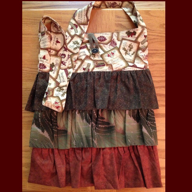 Wine country crossbody fabric ruffle bag