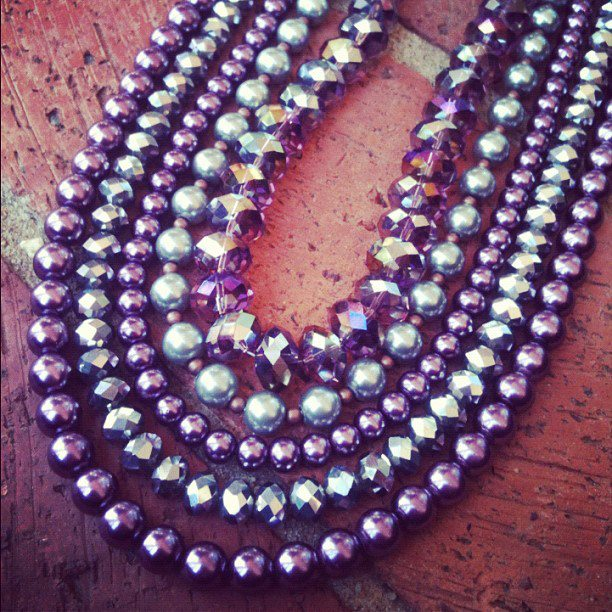 Luscious Lux - Layers of Pealrs and Crystals Necklace