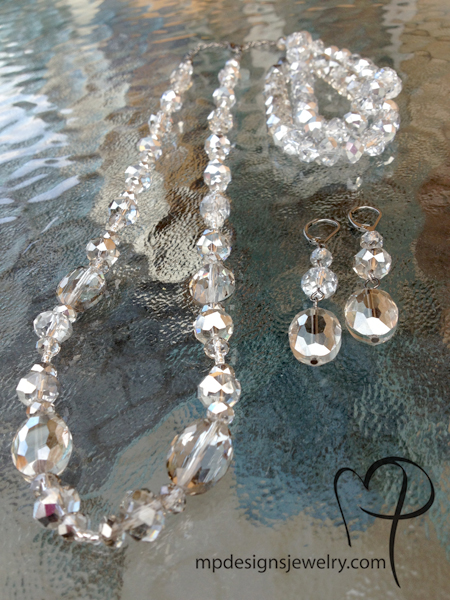 Silver Sparkle Jewelry Set