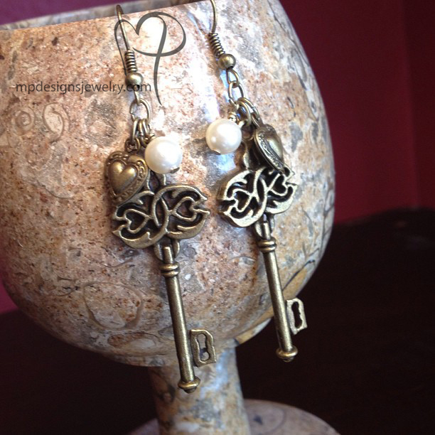 Key to My Heart ~ Charm Earrings