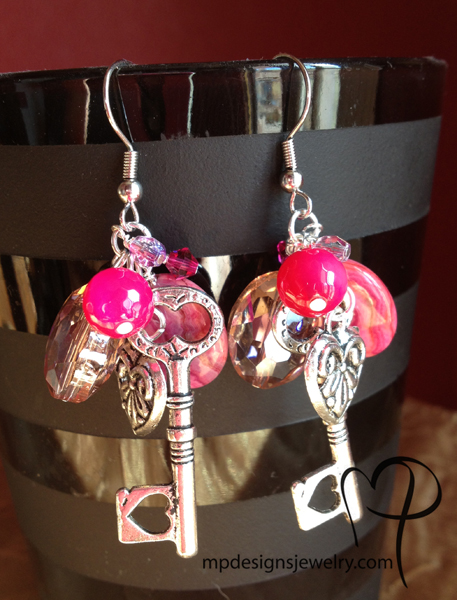 Pink Explosion! Charm Earrings