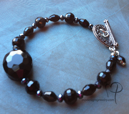 Black Beauty Crystal Bracelet